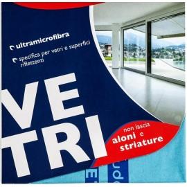 Ултрамикрофибърна кърпа за почистване на прозорци Vetri